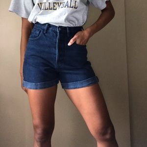High waisted vintage jean shorts